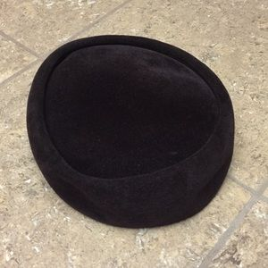 Vintage Betmar Chocolate Velvet Pill Box Hat